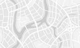 Abstract city map banner.