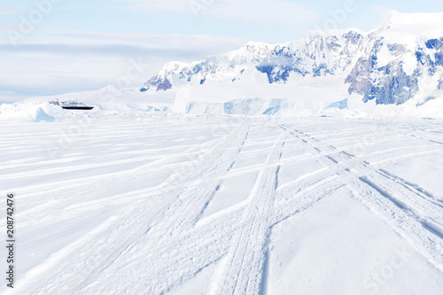 Aluminium Prints Dark grey Beautiful landscape and scenery in Antarctica