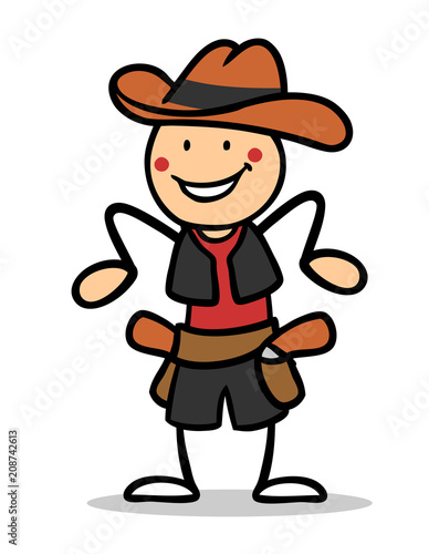 Kind Als Cowboy Verkleidet Zum Fasching Buy This Stock