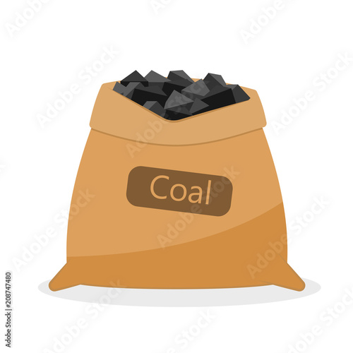 Photographie Bag with coal.
