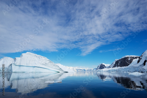 Photo Stands Antarctica Beautiful landscape and scenery in Antarctica