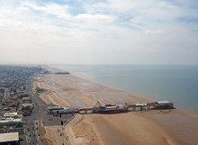An Aerial View Of Blackpool Be...
