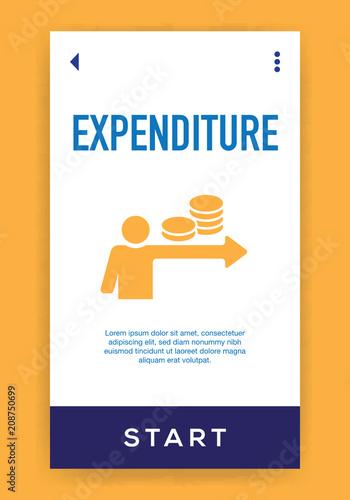 Fotografia, Obraz  Expenditure Icon