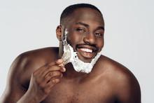 African American Man Smears Sh...