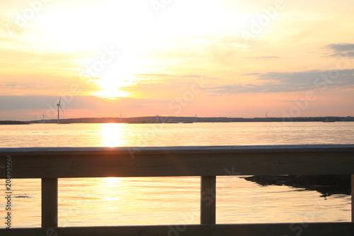 Tuinposter Pier swedish sunset