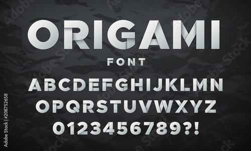 Fototapeta Modern white paper font