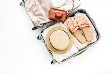 Hand Luggage With Stylish Fema...