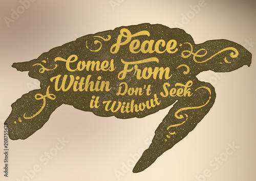 """Fotografía  Motivational Quote """"Peace Comes Within"""""""