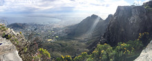 Panorama View From Table Mountain Over Cape Town, South Africa