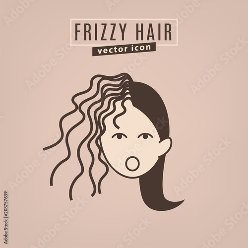 Fotografie, Obraz  Hair problem icon