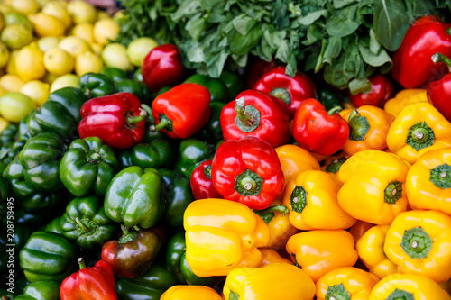 Fototapety, obrazy: Colorful Capsicum in the Market of Jerusalem