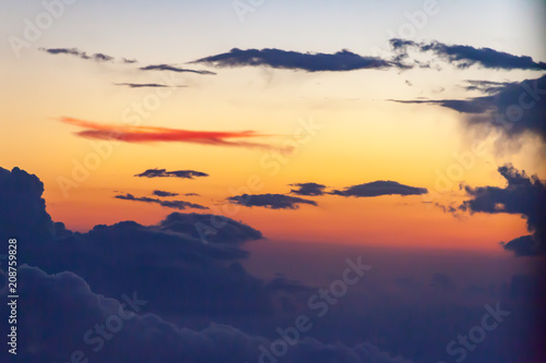 Fototapety, obrazy: Sunset Sky with Clouds