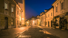 Night View On The Old Town In Kamnik, Slovenia