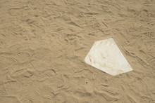 Sandy Dirt Area Of Baseball Softball Diamond No People Full Frame