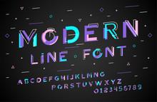 Stylish Modern Abstract Font A...