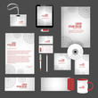 nice and beautiful office stationery design templates for business with nice and creative design illustration.