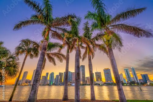 Valokuvatapetti Miami, Florida, Coastal Skyline