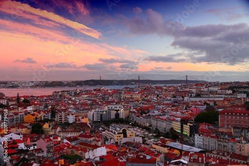 Zdjęcie XXL Lizbona zachód słońca