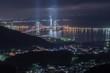測量山からの室蘭夜景/白鳥大橋(洞爺湖方向)