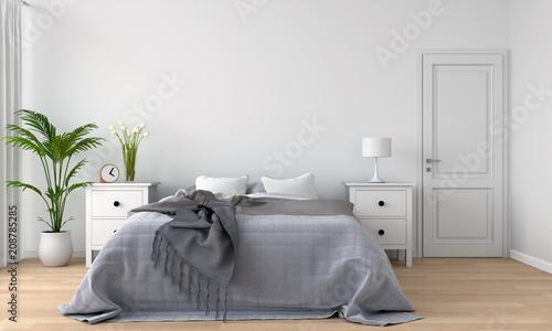 Fotografía  bedroom interior, 3D rendering