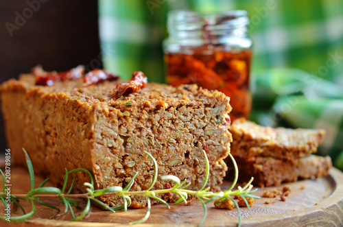 Lentil pate on a wooden board Wallpaper Mural