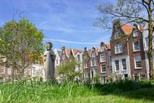 Jesus Statue In Begijnhof, Beautiful Secret Spot In Amsterdam