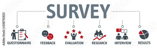 Fotografía  Banner Survey Results Analysis Discovery Investigation Concept