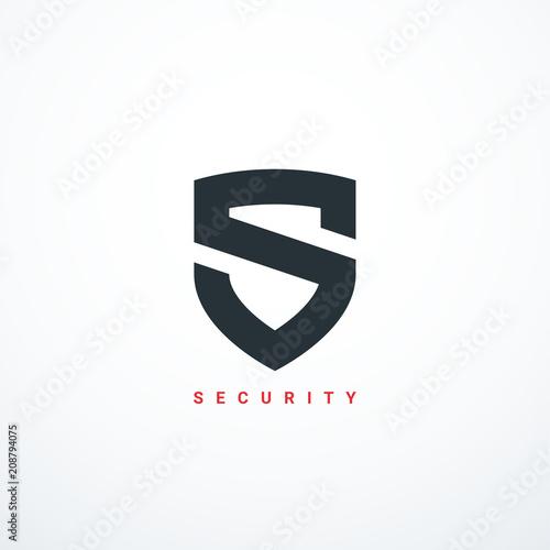 Fotografie, Obraz Vector security shield icon. Security logo