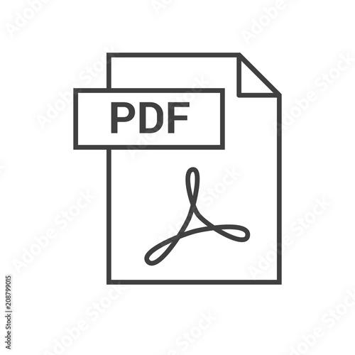 Fotografía  PDF Vector Icon