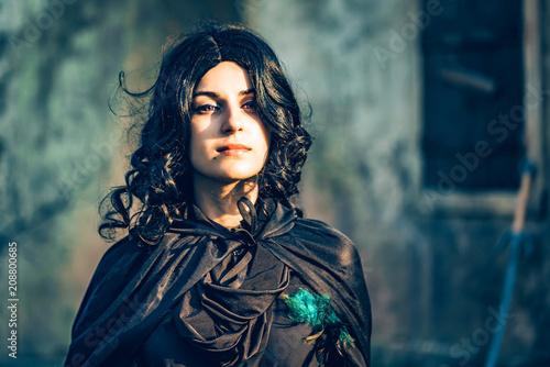 Fototapeta Fantasy cosplay beautiful girl from Witcher