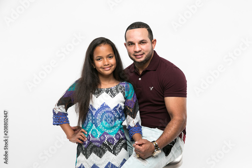 Fotografie, Obraz  Hispanic Family- father and daughter