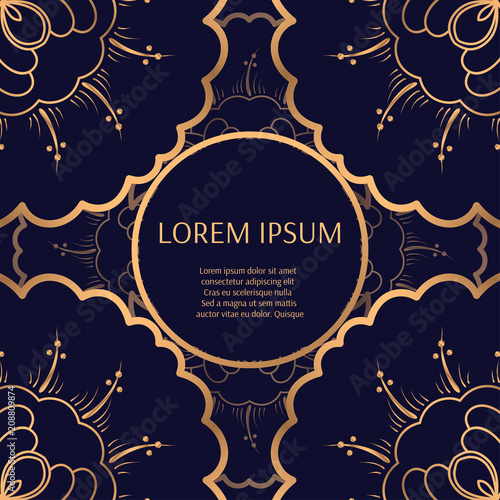Luxury Background Vector Floral Royal Pattern Frame