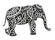 canvas print picture - Ethnic ornamented elephant