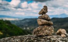 Rock Cairn Trail Marker Overlo...