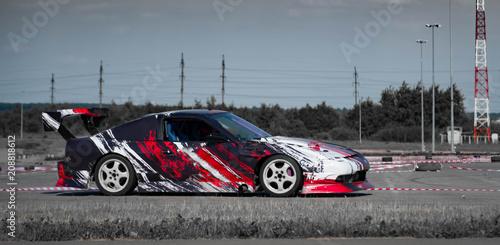 Foto Sport car wheel drifting