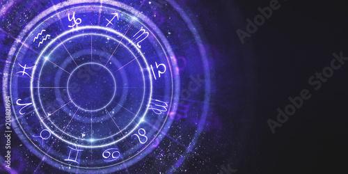 fototapeta na ścianę Creative zodiac wheel background
