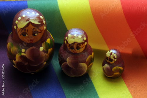 Foto op Canvas Asia land Радужный флаг ЛГБТ Tęczowa flaga ruch Zastava duginih boja LGBT Steagul pride