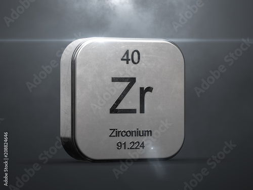 Fotografie, Tablou Zirconium element from the periodic table