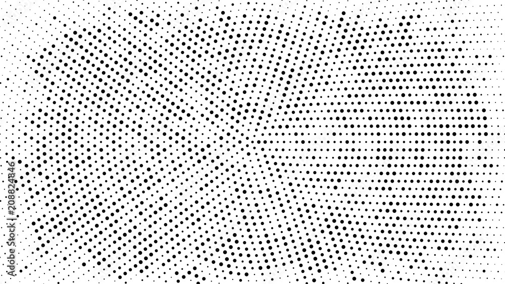 Fototapety, obrazy: Halftone dotted background. Halftone effect vector pattern. Circle dots isolated on the white background.