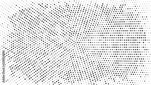 Halftone dotted background. Halftone effect vector pattern. Circle dots isolated on the white background. - 208824846