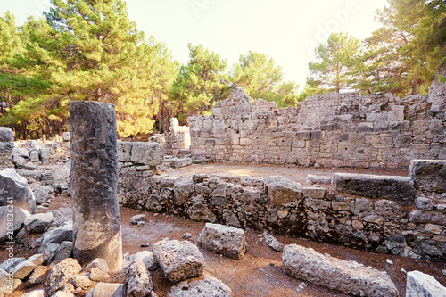 Foto op Aluminium Rudnes Travel and architecture. Ancient ruins in antique town Phaselis, Turkey.