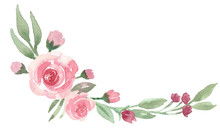 Loose Floral Watercolor Corner...