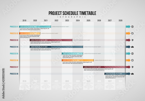 project schedule table infographic  buy this stock