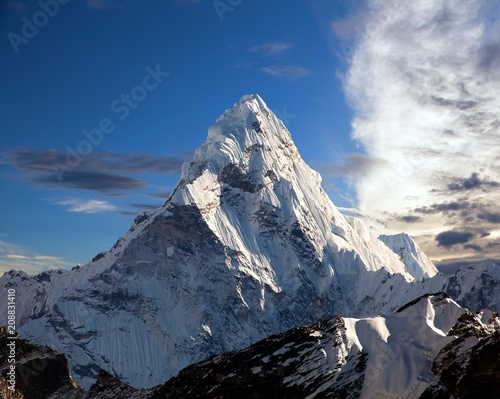 Photo mount Ama Dablam on the way to Everest Base Camp