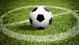 Fototapeta sport - Ball auf dem Fussballplatz