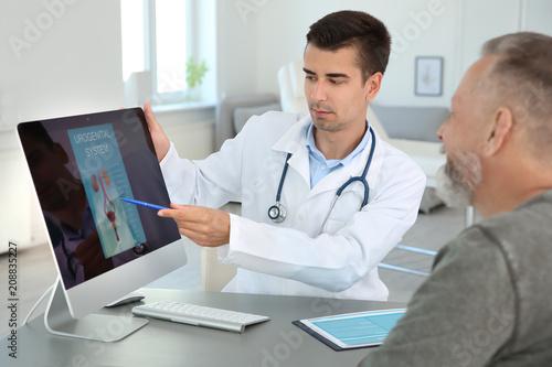 Man with health problem visiting urologist at hospital Tapéta, Fotótapéta