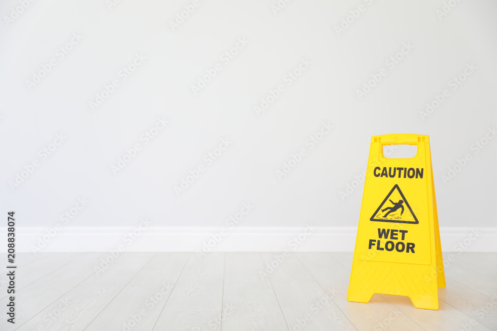 Fototapeta Safety sign with phrase