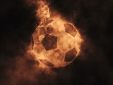 Fototapeta Sport - Soccer ball made out of smoke