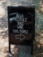 All The Best Things In The World: Beer. Clothes. Dogs. Wine. Cool People.