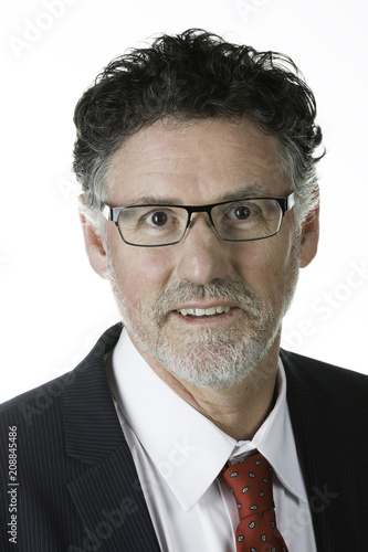 Fotografie, Obraz  Handsome mature business man isolated on white